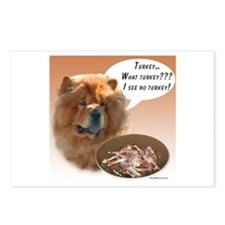 Chow Chow Turkey Postcards (Package of 8)