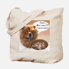 Chow Chow Turkey Tote Bag