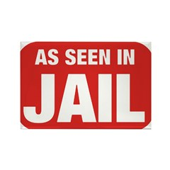 As Seen In Jail Rectangle Magnet (100 pack)