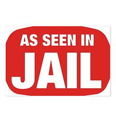 As Seen In Jail Postcards (Package of 8)