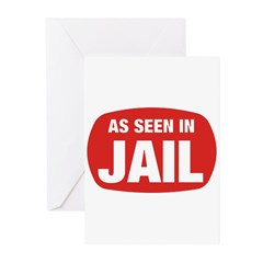 As Seen In Jail Greeting Cards (Pk of 10)