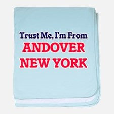 Trust Me, I'm from Andover New York baby blanket