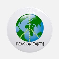 Peace Peas on Earth Christmas Ornament (Round)