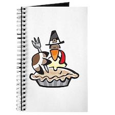 Pilgrim Turkey Eating Pie Journal