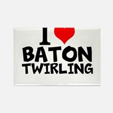 I Love Baton Twirling Magnets