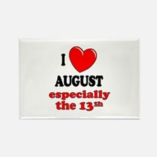 August 13th Rectangle Magnet