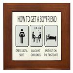 How To Get A Boyfriend Framed Tile