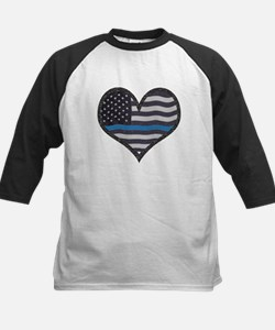 Thin Blue Line Heart Baseball Jersey