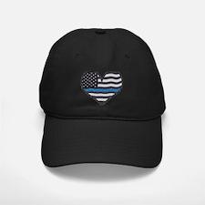 Thin Blue Line Heart Baseball Hat