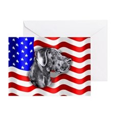 Blue UC Patriot Dane Greeting Card