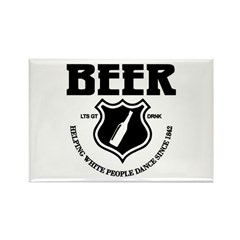 Beer - Helping White People D Rectangle Magnet
