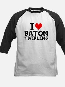 I Love Baton Twirling Baseball Jersey