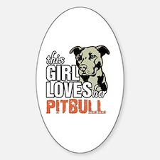 Unique Pitbull Sticker (Oval)