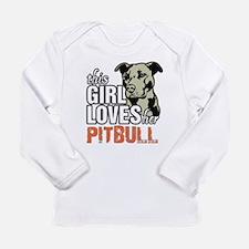 This Girl Loves Her Pitbull Long Sleeve T-Shirt