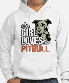 This Girl Loves Her Pitbull Hoodie Sweatshirt