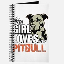 This Girl Loves Her Pitbull Journal