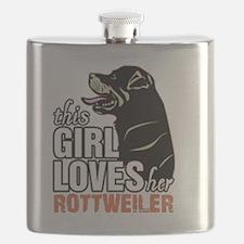 Unique Rottweiler Flask