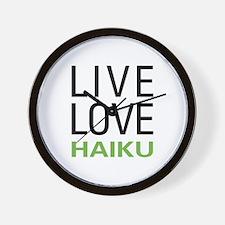 Live Love Haiku Wall Clock