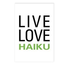 Live Love Haiku Postcards (Package of 8)