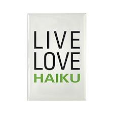 Live Love Haiku Rectangle Magnet