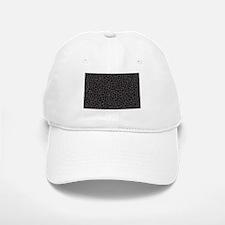 Black and White Mosaic Baseball Baseball Cap