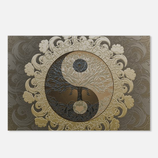 Yin Yang in tan colors wi Postcards (Package of 8)