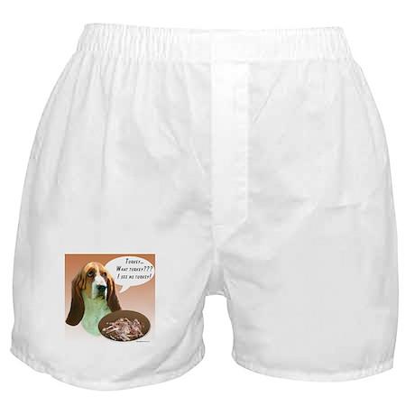 Basset Hound Turkey Boxer Shorts