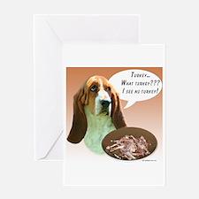 Basset Hound Turkey Greeting Card