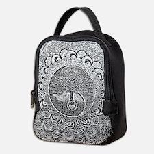 Shiny Metallic Tree of Life Yin Neoprene Lunch Bag