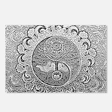 Shiny Metallic Tree of Li Postcards (Package of 8)