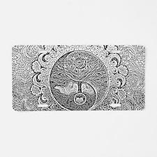 Shiny Metallic Tree of Life Aluminum License Plate