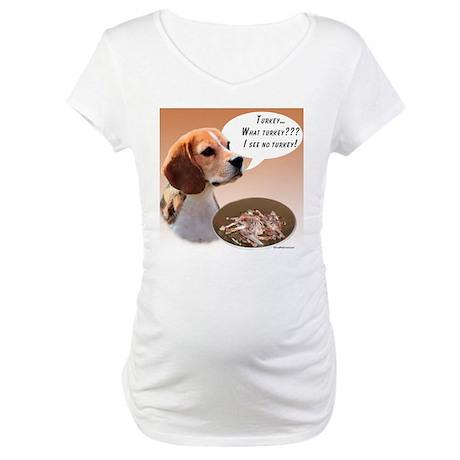 Beagle Turkey Maternity T-Shirt