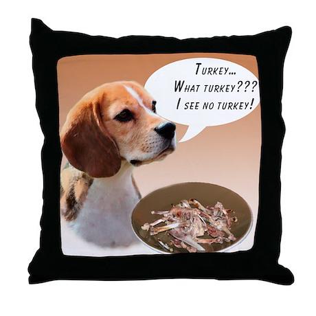Beagle Turkey Throw Pillow