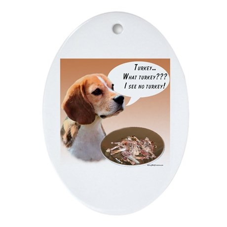 Beagle Turkey Oval Ornament