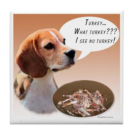 Beagle Turkey Tile Coaster