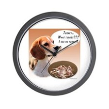 Beagle Turkey Wall Clock