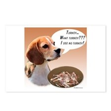 Beagle Turkey Postcards (Package of 8)