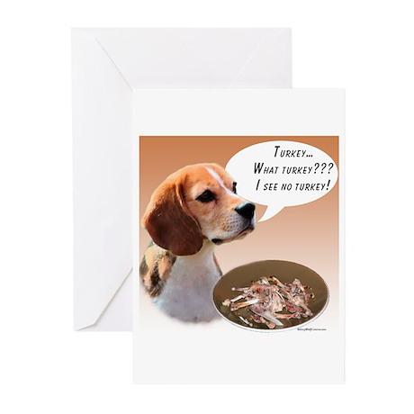 Beagle Turkey Greeting Cards (Pk of 20)