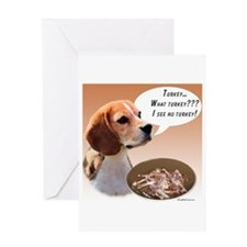 Beagle Turkey Greeting Card