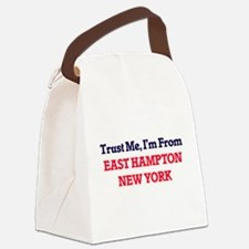 Trust Me, I'm from East Hampton N Canvas Lunch Bag