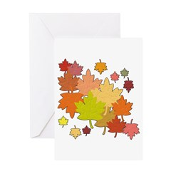 Fall into the Leafpile! Greeting Card