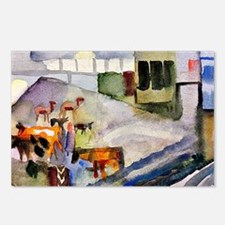 Funny August macke Postcards (Package of 8)