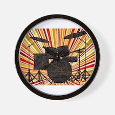 Jazz Drum Kit Wall Clock
