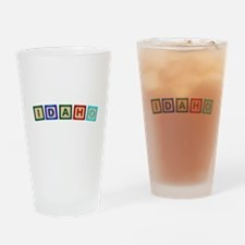 Idaho Wooden Block Letters Drinking Glass