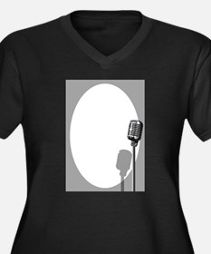 Musical Event Microphone Poster Plus Size T-Shirt