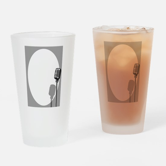 Musical Event Microphone Poster Drinking Glass