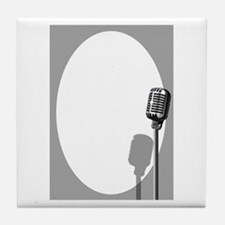 Musical Event Microphone Poster Tile Coaster