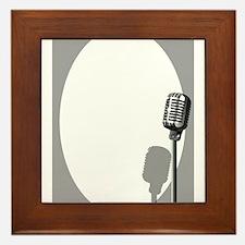 Musical Event Microphone Poster Framed Tile