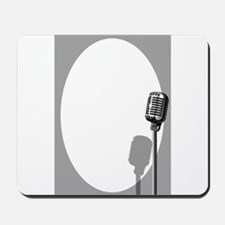 Musical Event Microphone Poster Mousepad
