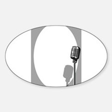 Musical Event Microphone Poster Decal